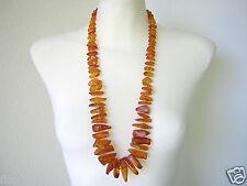 XXL Natur Bernstein Antik Kette Honig 110,5 g Schmuck Genuine Amber Necklace