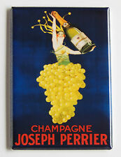 Champagne Advertisement FRIDGE MAGNET grapes alcohol wine