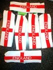 6 x Girls Elasticated England Headbands Party Bag Fillers