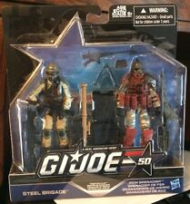 Hasbro GI Joe! New Steel Brigade & Iron Grenadier Action Figures! 50 Years Pack!