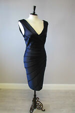 PHASE EIGHT MIDNIGHT SUNRAY DRESS IN SIZE 10 - GORGEOUS - FULLY LINED