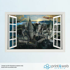 LARGE Harry Potter Hogwarts 3D Window View Decal Wall Sticker Art Mural Kids