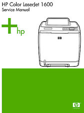 HP Color Laserjet 1600 Printer Service Manual(Parts & Diagrams)