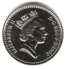 1992 5P COIN RARE * UNCIRCULATED * COLLECTABLE NEW SMALL STYLE FIVE PENCE (a)