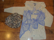 BNWT Stunning Fat Face Butterfly Knit Cardigan 10-12 & NEW Butterfly Scarf