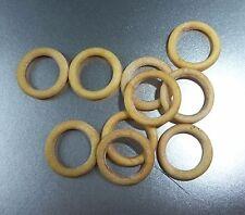 LOT DE 10 PETITS ANNEAUX DE RIDEAU ANCIENS CELLULOÏD / 9 mm diamètre interne /P