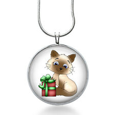 Cats Gift Necklace - Animal Jewelry - Christmas Pendant- Cat Necklace