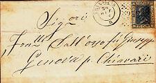 REGNO-NUMERALE A PUNTI 2329 TRATALIAS-20c(26)-Lettera x Chiavari 24.10.1868