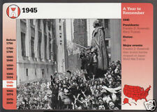 V-E VE DAY Victory in Europe 1945 WW2 New York City Photo GROLIER STORY CARD
