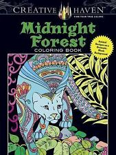 Adult Coloring: Creative Haven Midnight Forest Coloring Book : Animal Designs...