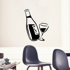 Good Diy Kitchen Decal Wine Glass and Bottle Wall Art Vinyl  Decal Decor Sticker