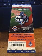 2015 NEW YORK METS VS KANSAS CITY ROYALS WORLD SERIES TICKET STUB GAME #5