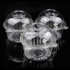 100 Plastic Cupcake Candy & Pastry Boxes With Dome Lid for Any Party DIY
