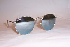 New RAY BAN ROUND METAL Sunglasses 3447 019/30 SILVER/SILVER MIRROR 50mm
