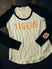 PINK ❤ by ViCToRiaS SeCReT DeTRoiT TiGeR T Shirt Jersey M EUC FREE SHIP
