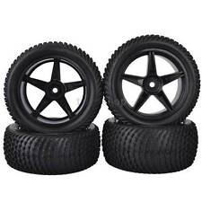 4PCS RC 1:10 Off-Road Buggy Car Front & Rear Rubber Tyres Tires Wheel Rim 66005B
