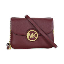 Michael Kors Fulton Leather Crossbody Bag - Merlot