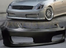 Fit Infiniti G35 03-04 4dr Nismo style Urethane Front Bumper Body Kit Free Mesh