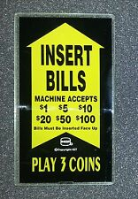 IGT S2000 3 Coin Slant Top Slot Machine Bill Validator Side Glass for Coin Game