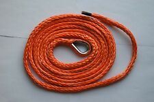 """Orange 3/16"""" * 10ft ATV Plow Lift Rope, Synthetic Winch Rope Cable,UHMWPE Rope"""