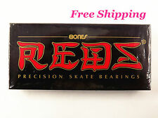 New Bones REDS Skateboard or Rollerskate Bearings Set of 8 US Seller