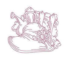 1048:  Machine Embroidery Designs - Garden Time - Redwork