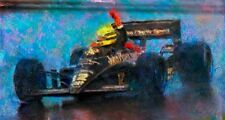 Automotive Car Art AYRTON SENNA 1985 Lotus John Player Special Formula 1 F1