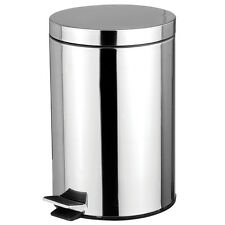 Stainless Steel 5 Liter Foot Pedal Kitchen Office Waste Bin Garbage Trash Can