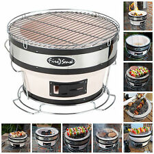 "Portable Yakatori Charcoal Grill 11"" Small Japanese Outdoor Table BBQ (No Lid)"