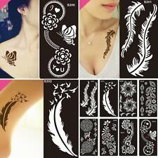 8Pcs for India Body Art Decal Temporary Tattoo Stencil #P Template Airbrush
