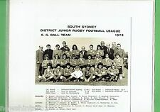 #T102.  SOUTH SYDNEY JUNIOR RUGBY LEAGUE PHOTO - 1972  S. G. BALL