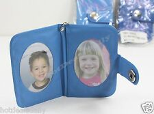 LOT OF TWO (2) MOM'S STARS LT BLUE CHILDREN PHOTO KEYCHAIN HOLDS 2 PICTURES PICS