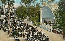 1907-1915 Postcard; Band Stand Westlake Park in Winter Los Angeles CA Posted
