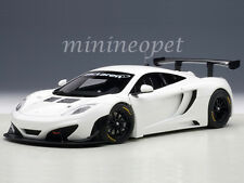 AUTOart 81341 MCLAREN 12C GT3 1/18 DIECAST MODEL CAR WHITE