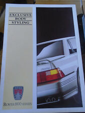 Rover 800 Exclusive Body Styling brochure c1991 ref 3907/A