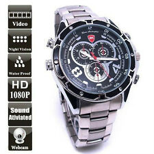 Waterproof 12MP FULL HD 1080P Night Vision Spy Watch Camea Covert CCTV DVR 16GB