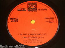 "VINYL 7"" SINGLE - MUNGO JERRY - IN THE SUMMERTIME - DNX.2502"