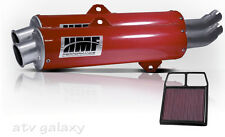 HMF Can Am BRP Commander 1000 2011 2012 2013 Red Dual Slip On Exhaust K&N Filter