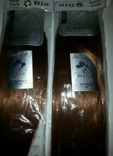 "SET OF 2 NEW YAKI HUMAN HAIR BLENDED/14""/#30/STRAIGHT/WEFT/WEAVE/BIO NEW YORK"
