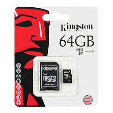 Kingston MicroSD Card 64 GB TF Flash Memory With Adapter Class10 UHS-I