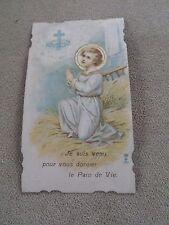 image pieuse JE SUIS VENU POUR VOIUS DONNER LE PAIN   holy card santini   P59