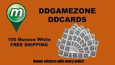 100 Munzee QR Code WHITE Generic Stickers FAST FREE SHIPPING