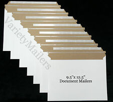 "9 RIGID SELF-SEALING DOCUMENT MAILING ENVELOPES  9.5""x 12.5""  POSTAL MAILERS"
