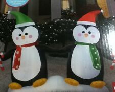 5.5 ft Penguin with Candy Cane Airblown Inflatable CHRISTMAS AIRBLOWN