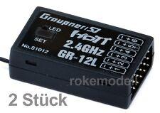 2 x Graupner S1012 GR-12L HoTT Empfänger für 6 Servos, 2,4 GHz, Stückpr. € 39,95