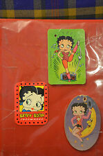 Variety BETTY BOOP Scrapbook w/Collector Caps, Valentines, Stick Ons, Car Scents