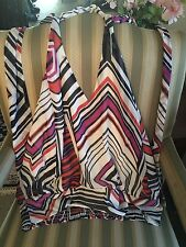 BABY PHAT HULTER NECK  BLOUSE MULTI COLOR 2x