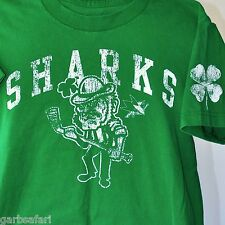 SJ Sharks Irish Leprechaun Kids T-Shirt Large Adult Small St. Pats NHL Hockey
