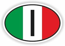 Oval Italy Sticker for Locker Hard Hat Laptop Tablet PC Door Fridge Car Bumper