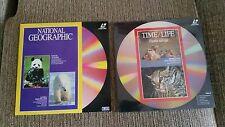 NATIONAL GEOGRAPHIC TIME LIFE JOB LOT LOTE 2 X LASERDISC LD